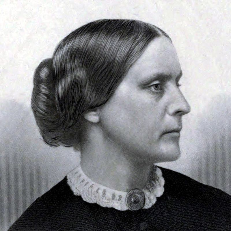 Picture of Susan B. Anthony (February 15, 1820 – March 13, 1906) was an American social reformer and women's rights activist who played a pivotal role in the women's suffrage movement. Born into a Quaker family committed to social equality, she collected anti-slavery petitions at the age of 17. In 1856, she became the New York state agent for the American Anti-Slavery Society.