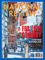 Picture of the cover of the National Review, with the title,
